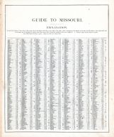 Missouri - Guide 1, United States 1885 Atlas of Central and Midwestern States